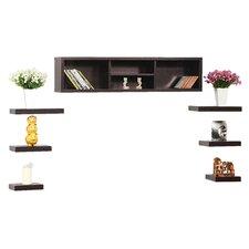 Somer 7 Piece Hanging Shelves & Cabinet Set