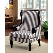 Mortimer Wood Trim Arm Chair