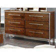 Bilsen 6 Drawer Dresser with Mirror