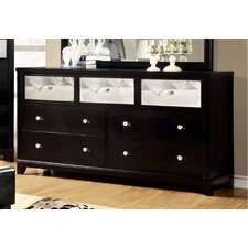 Aeline 7 Drawer Dresser with Mirror