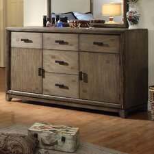 Karla 5 Drawer Combo Dresser with Mirror