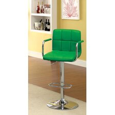 Goldmember Adjustable Height Swivel Bar Stool with Cushion