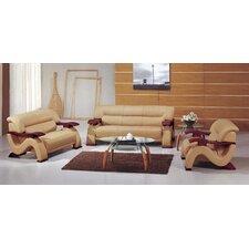 Chrysocolla 3 Piece Leather Sofa Set