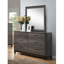 Benito 6 Drawer Dresser with Mirror