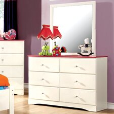 Aston 6-Drawer Dresser with Mirror (Set of 2)