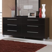 Lexington 6 Drawer Dresser with Mirror