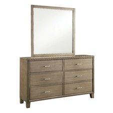 Nina 6 Drawer Dresser with Mirror