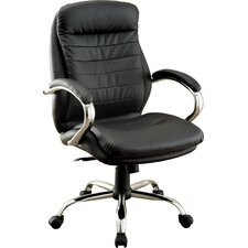 Alexander High-Back Leatherette Executive Chair with Arms