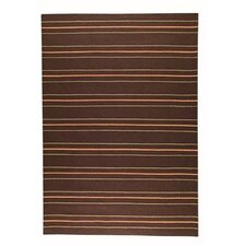 Savannah Striped Brown Area Rug