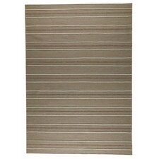 Savannah Striped Beige Area Rug