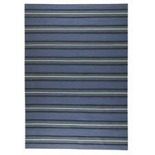 Savannah Striped Blue Area Rug