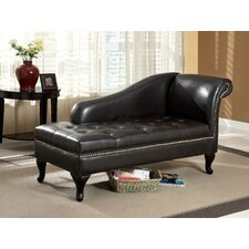 Emma Leatherette Chaise Lounge