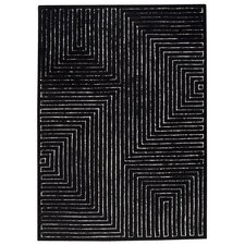 Maze Black/White Rug