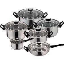 Priminute Monterrey Stainless Steel 12 Piece Cookware Set