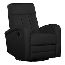 Leather Occasional Swivel Armchair Recliner