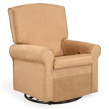 Square Back Upholstered Glider