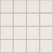 "Colonnade 3"" x 3"" Ceramic Mosaic Tile in Plain White (Set of 3)"