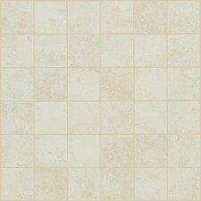 Piazza Porcelain Mosaic Tile in Ivory