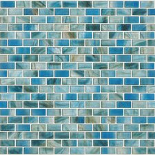 "Glass Expressions 0.25"" x 1"" Glass Mosaic Tile in Azure"