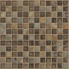 "Mixed Up 1"" x 1"" Slate Mosaic Tile in Piedmont"