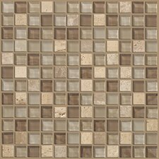 "Mixed Up 1"" x 1"" Natural Stone Mosaic Tile in Canyon"