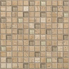 "Mixed Up 1"" x 1"" Porcelain Mosaic Tile in Dune"