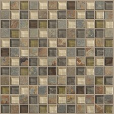 "Mixed Up 1"" x 1"" Slate Mosaic Tile in Spring Valley"