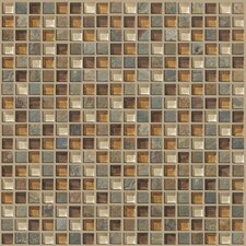 "Mixed Up 0.625"" x 0.625"" Slate Mosaic Tile in Crested Butter"