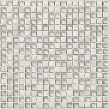 "Mixed Up 0.625"" x 0.625"" Natural Stone Mosaic Tile in Snow Peak"