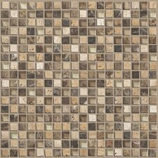 "Mixed Up 0.625"" x 0.625"" Natural Stone Mosaic Tile in River Bed"