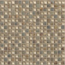 "Mixed Up 0.625"" x 0.625"" Slate Mosaic Tile in Denali"
