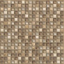 "Mixed Up 0.625"" x 0.625"" Natural Stone Mosaic Tile in Canyon"