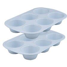 Cerama Bake 6 Cup Jumbo Muffin Pan (Set of 2)
