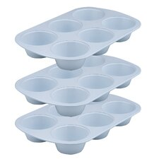 Cerama Bake 6 Cup Muffin Pan (Set of 3)