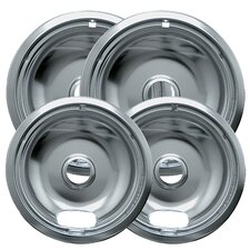 4 Piece Cooktop Style A Plug-in Electric Range Drip Pan Set