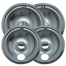 4 Piece Cooktop Style B Plug-in Electric Range Drip Pan Set