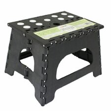Folding 1-Step Plastic Step Stool with 300 lb Load Capacity