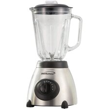 Brentwood 5-Speed Blender with Stainless Steel Base and Glass Jar