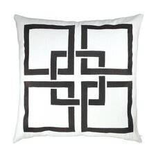 Linked Embroidered Throw Pillow