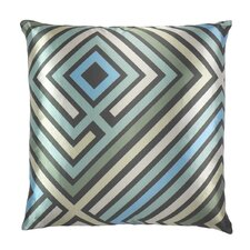 Maze Graphic Zig Zag Satin Throw Pillow