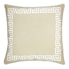 Wave Key Modern Greek Key Throw Pillow