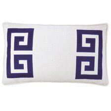 Parenthetikey Embroidered Greek Key Throw Pillow