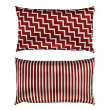 Stairs and Stripes Zig Zag Chevron Satin Lumbar Pillow
