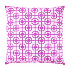 Lattice Fretwork Chinoserie Embroidered Throw Pillow