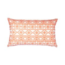Printed Linen Lumbar Pillow