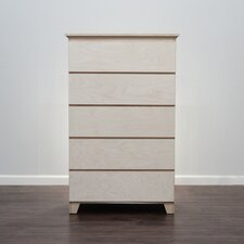 Flat Shaker 5 Drawer Chest