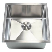 "Ariel 18"" x 18"" Single Bowl Undermount Kitchen Sink"