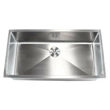 "Ariel 36"" x 19"" Single Bowl Undermount Kitchen Sink"