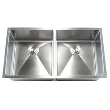 "Ariel 37"" x 20"" Double Bowl Undermount Kitchen Sink"