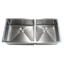 "Ariel 42"" x 19"" Double Bowl Undermount Kitchen Sink"